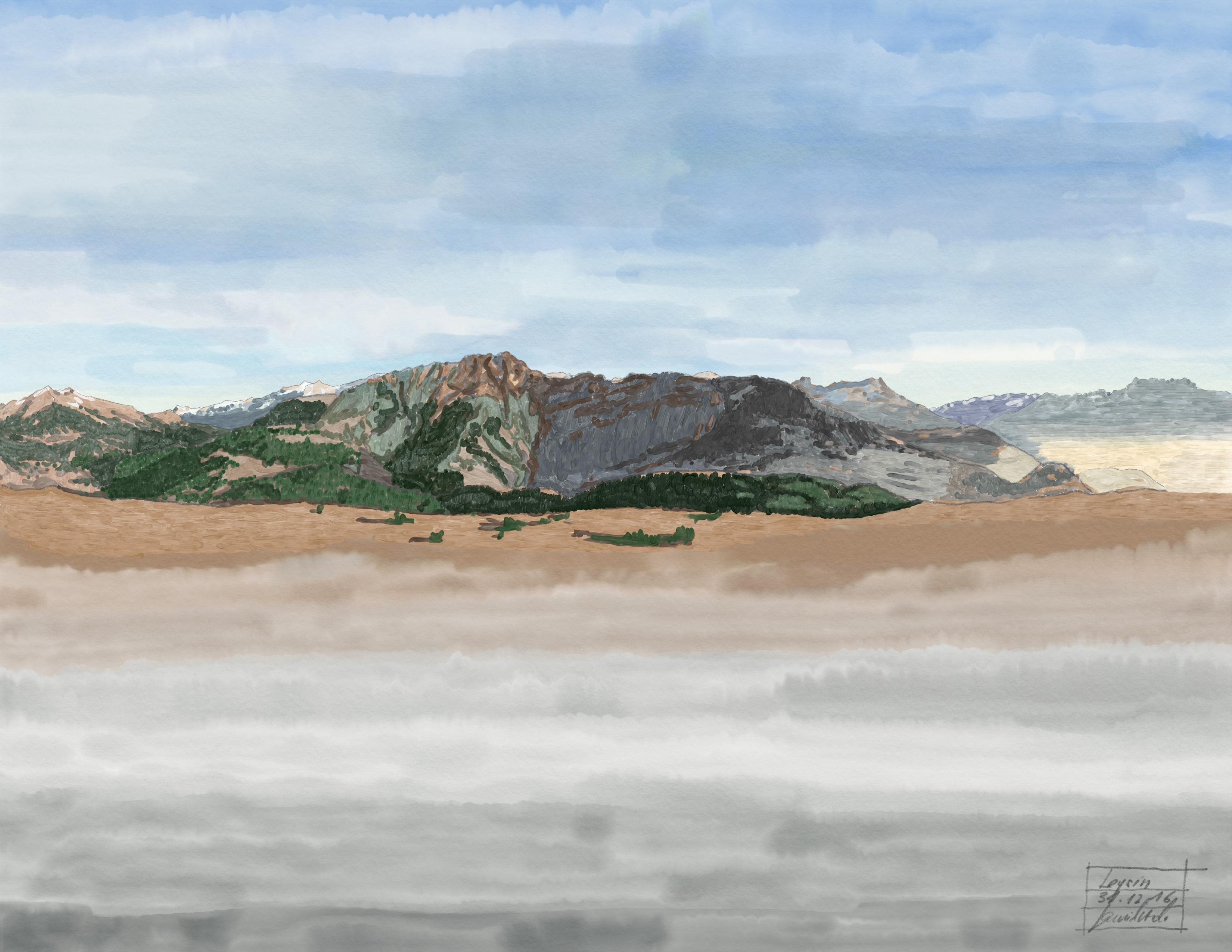 Vue depuis le Grand Chalet à Leysin