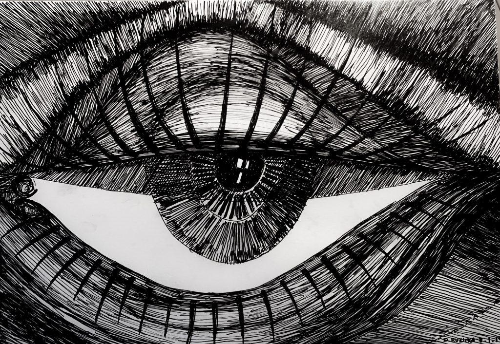 L'oeil retiré